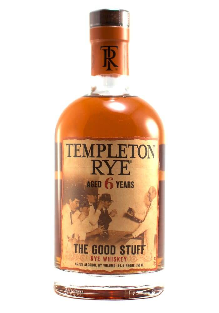 "Templeton Rye Whiskey ""The Good Stuff"" Aged 6 Years"