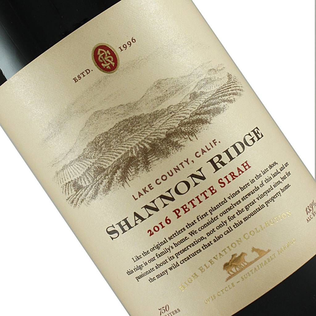 Shannon Ridge 2018 Petite Sirah, Lake County