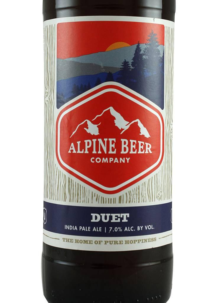 "Alpine ""Duet"" India Pale Ale 22oz Bottle - Alpine CA"