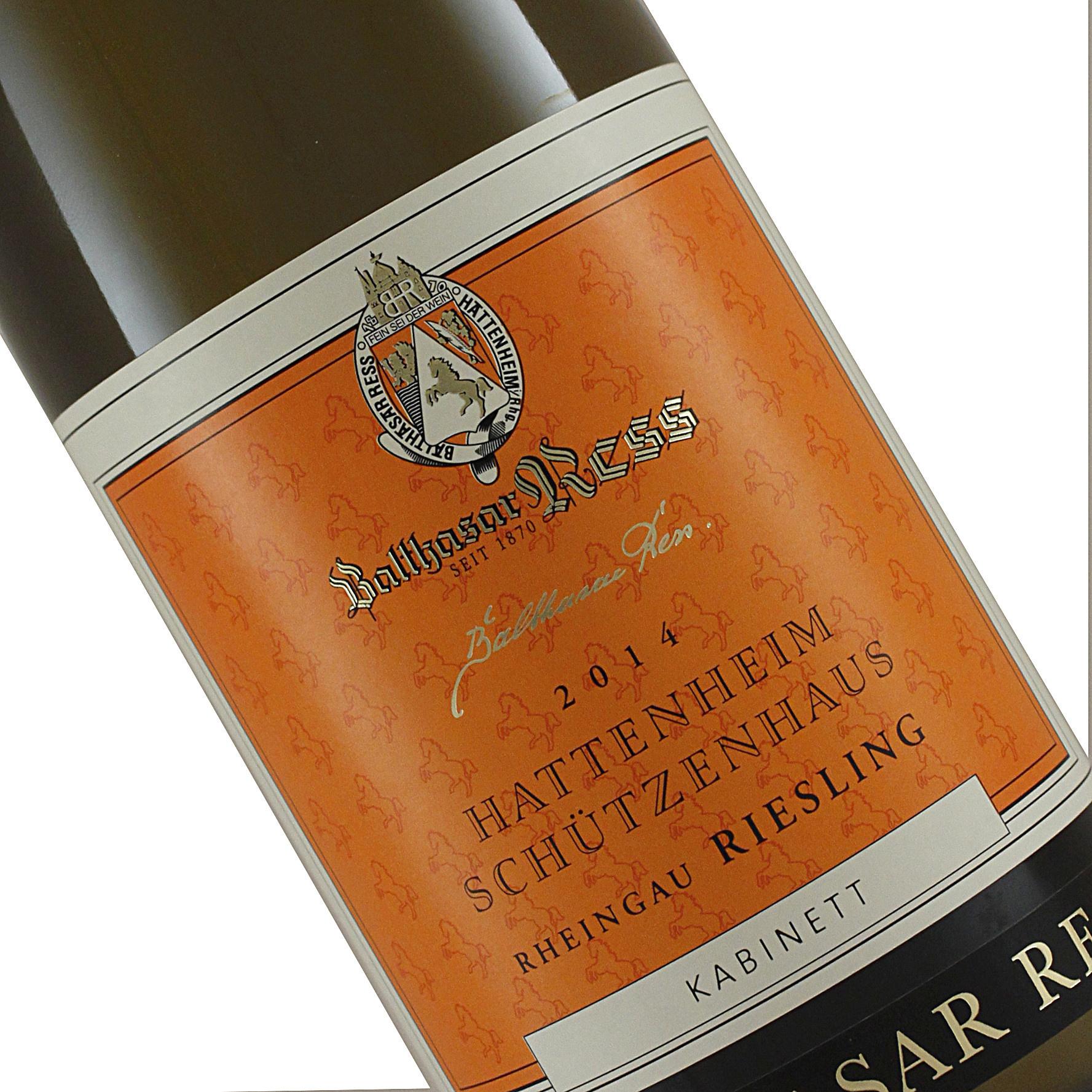 Balthasar Ress 2014 Riesling Kabinett Hattenheim Schutzenhaus, Rheingau, Germany--March Wine of the Month