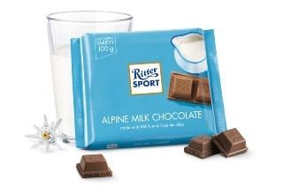 Ritter Sport Alpine Milk Chocolate Bar, Germany