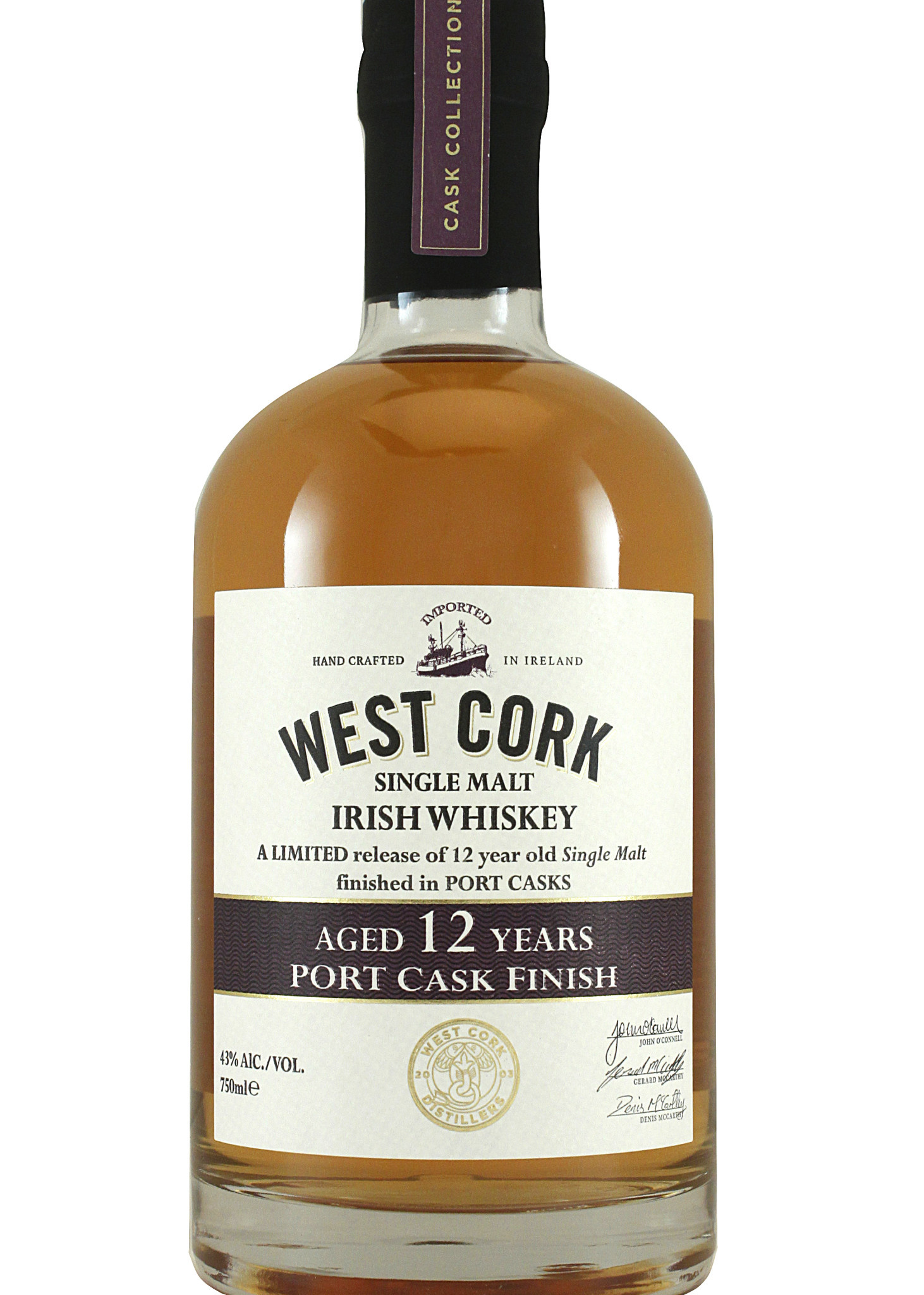 West Cork Single Malt Irish Whiskey Aged 12 Years