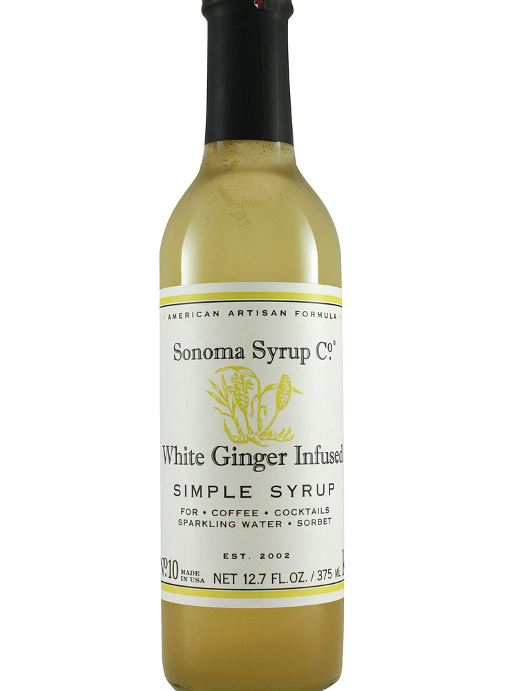 Sonoma Syrup Co. White Ginger Infused Simple Syrup 375ml.