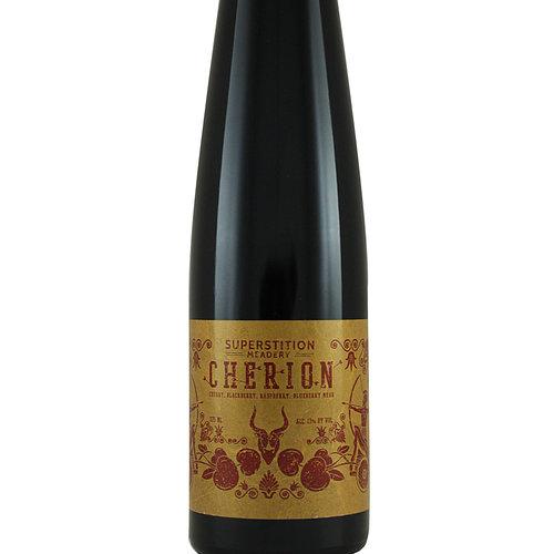 """Superstition """"Cherion"""" Cherry, Blackberry, Raspberry, Blueberry Mead 375ml Bottle - Prescott AZ"""