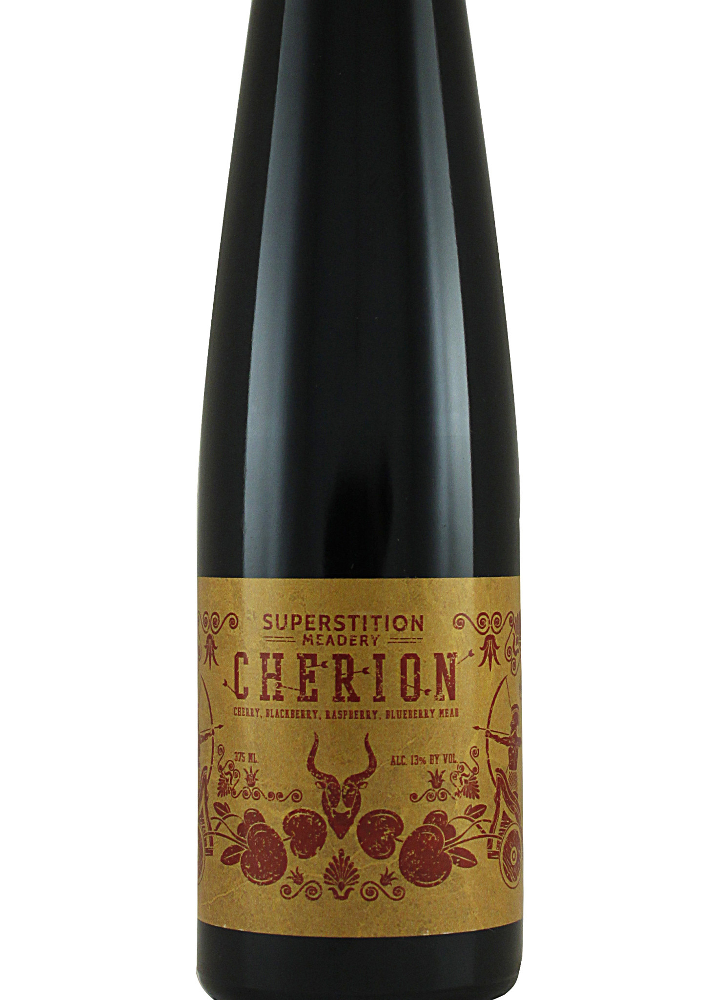 "Superstition ""Cherion"" Cherry, Blackberry, Raspberry, Blueberry Mead 375ml Bottle - Prescott AZ"