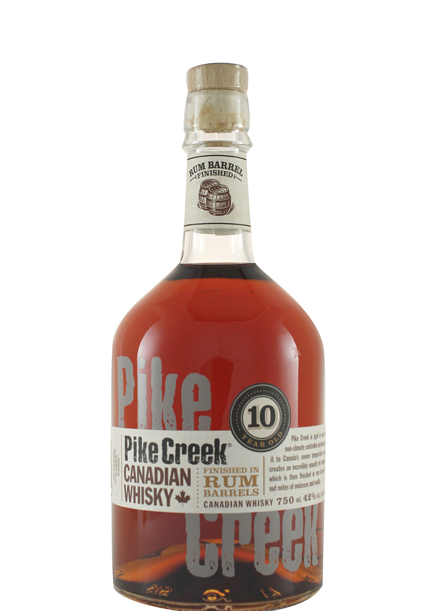 Pike Creek Canadian Whisky 10 Year Old Rum Barrel Finished