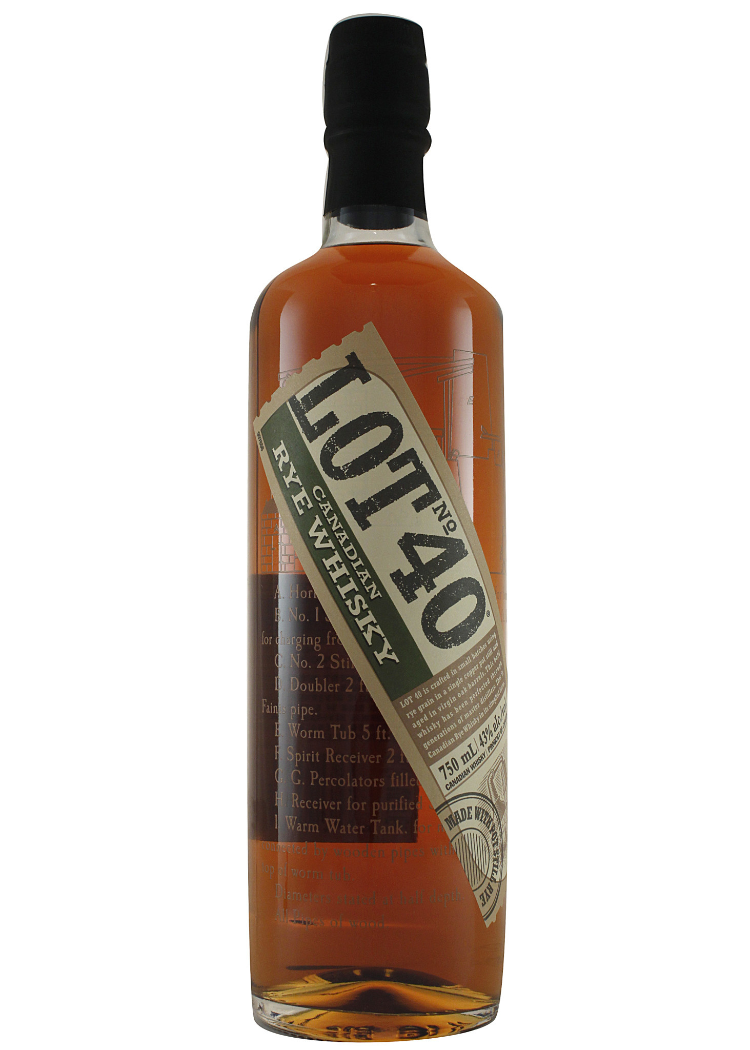 Lot No. 40 Canadian Rye Whisky, Windsor, Ontario