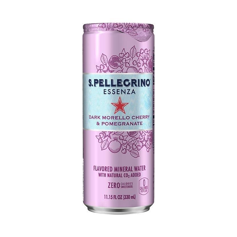 San Pellegrino Essenza Dark Morello Cherry & Pomegranate Flavored Mineral Water 330ml