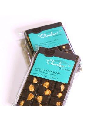 Charles Chocolates Salty-Sweet Hazelnut Bar 65% Bittersweet, San Francisco, CA