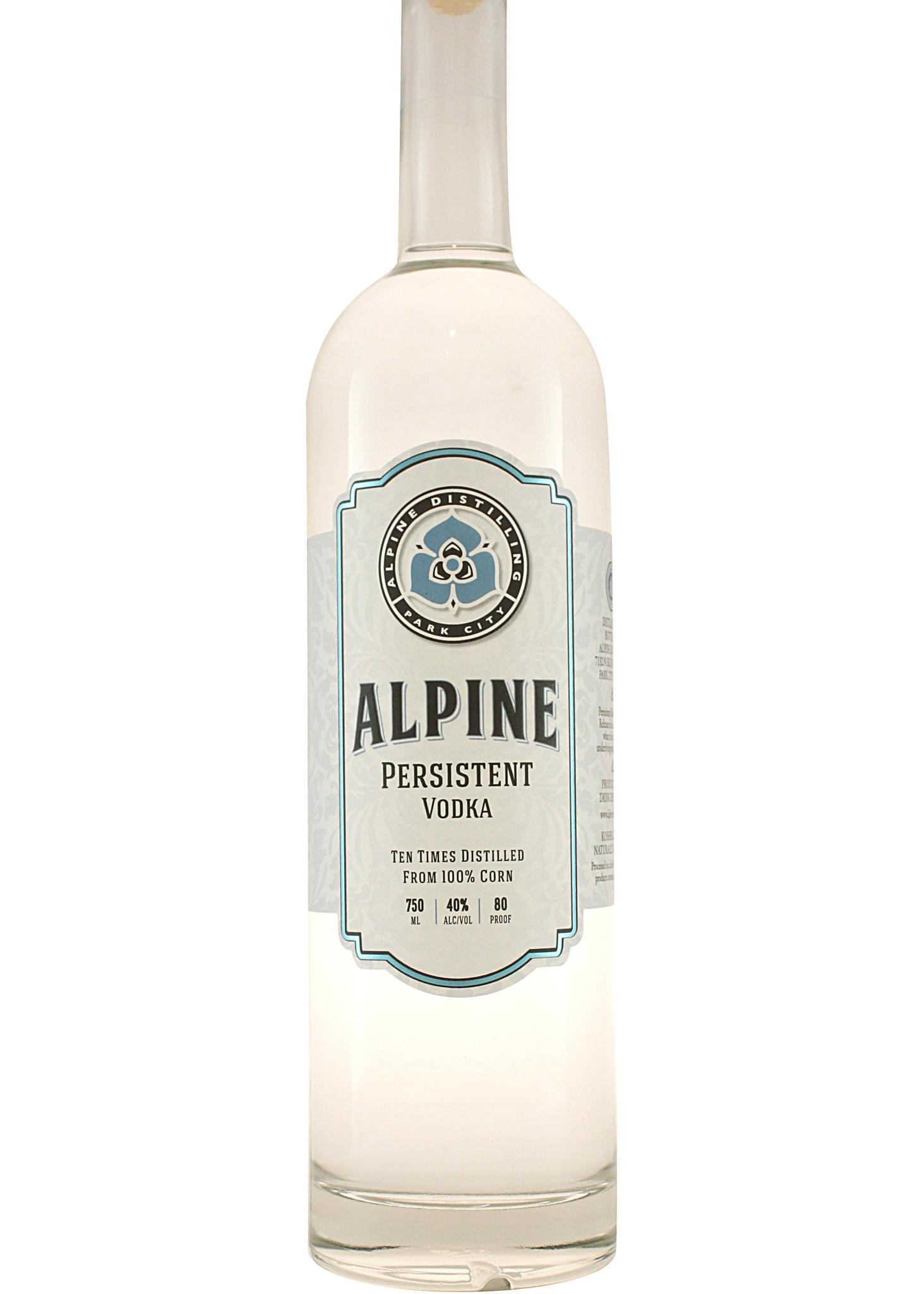 Alpine  Distilling Persistent Vodka Park City, Utah