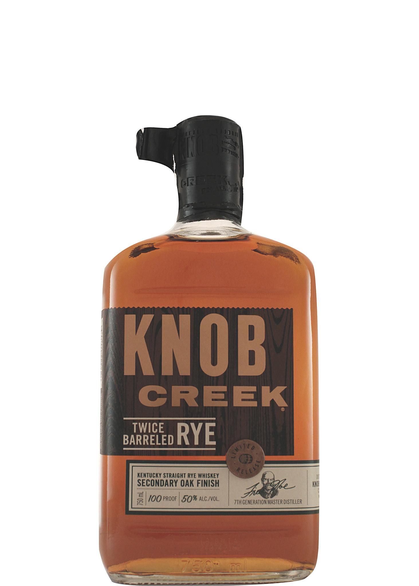 Knob Creek Twice Barreled Rye Whiskey