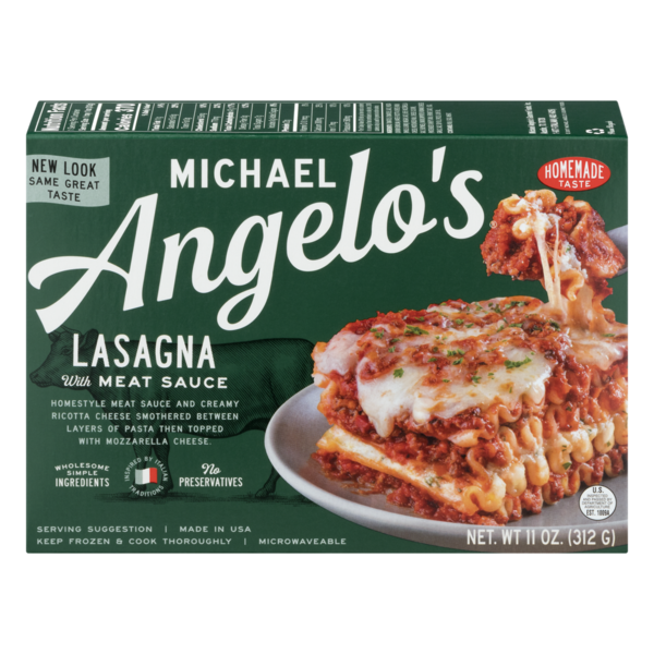Michael Angelo's Lasagna with Meat Sauce, Austin, Texas, 11 oz.