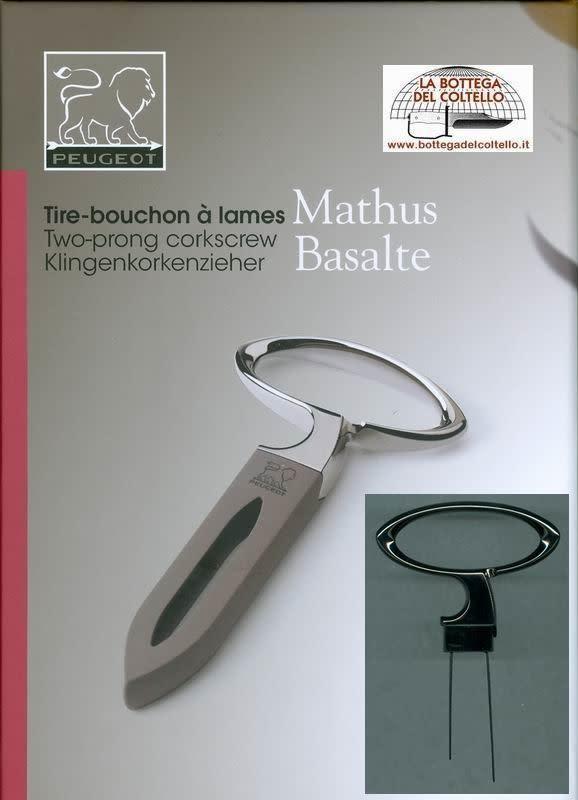 Peugeot France Mathus Basalte Two-Prong Corkscrew
