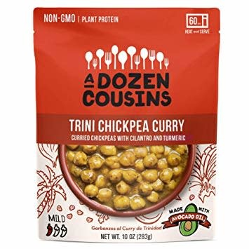 A Dozen Cousins Trini Chickpea Curry with Cilantro and Turmeric 10 oz., Berkeley, California