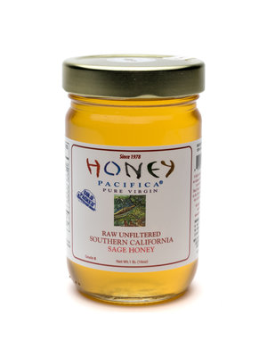 Honey Pacifica Raw Unfiltered Southern California Sage Honey, 1 lb. jar