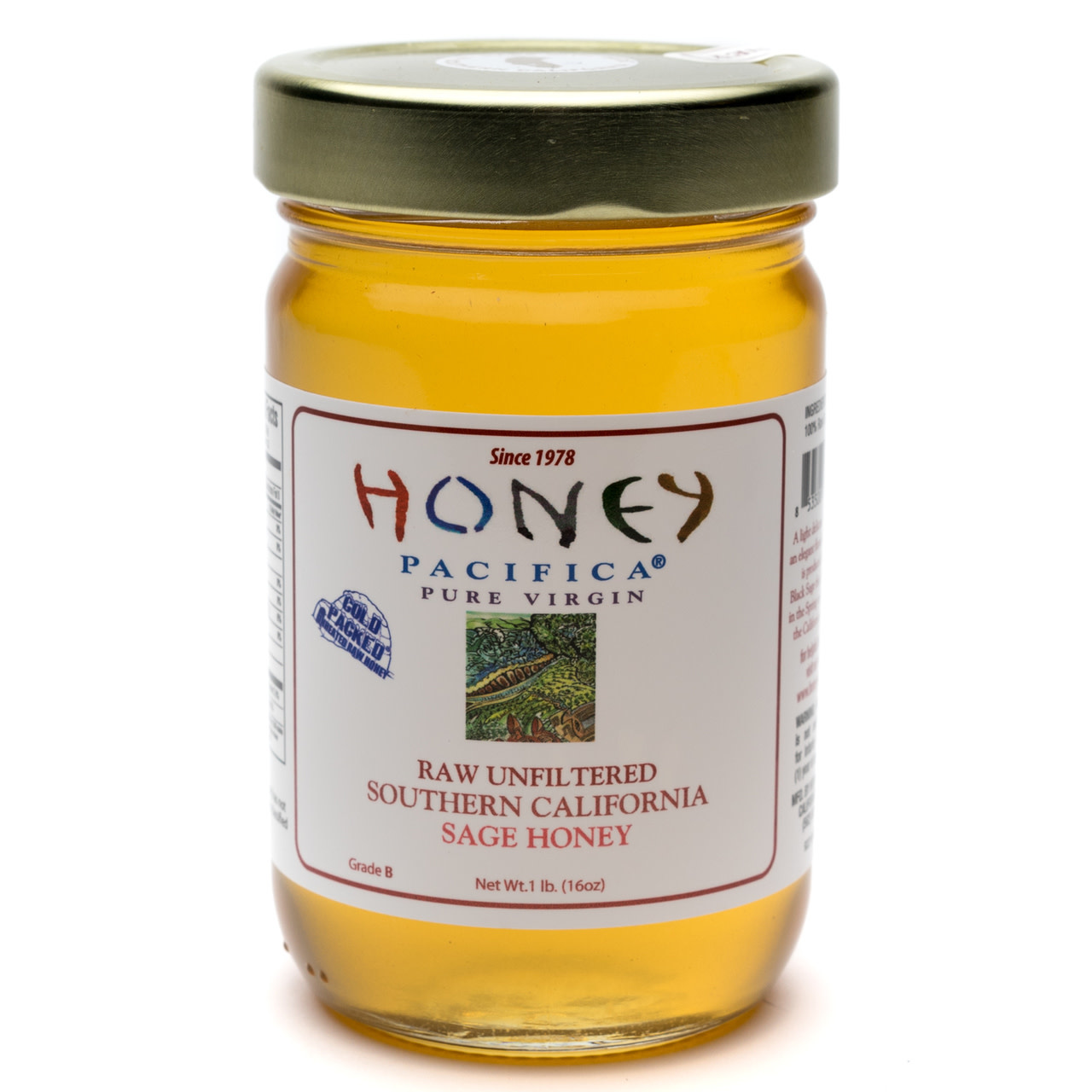 Honey Pacifica Raw Unfiltered Southern California Sage Honey