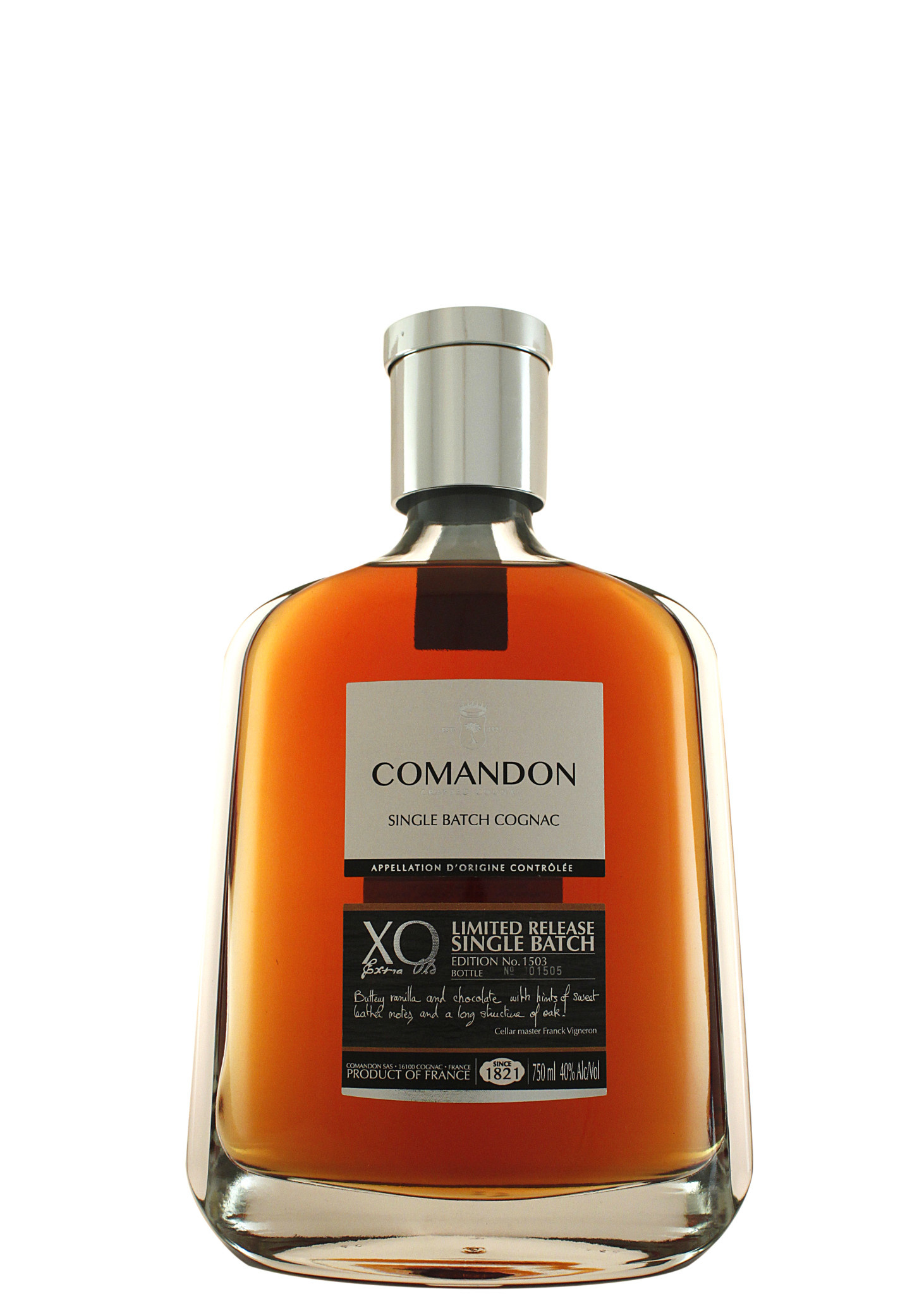 Comandon Cognac XO Extra Old Limited Release Single Batch