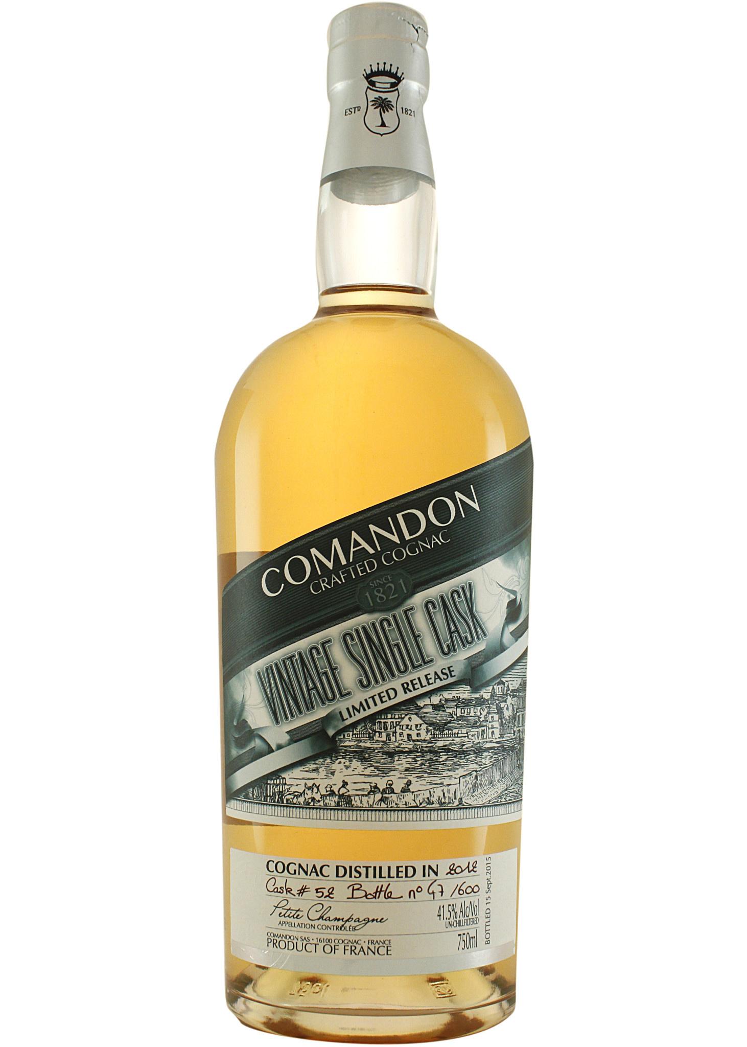 Comandon 2012 Vintage Single Cask Cognac Petit Champagne