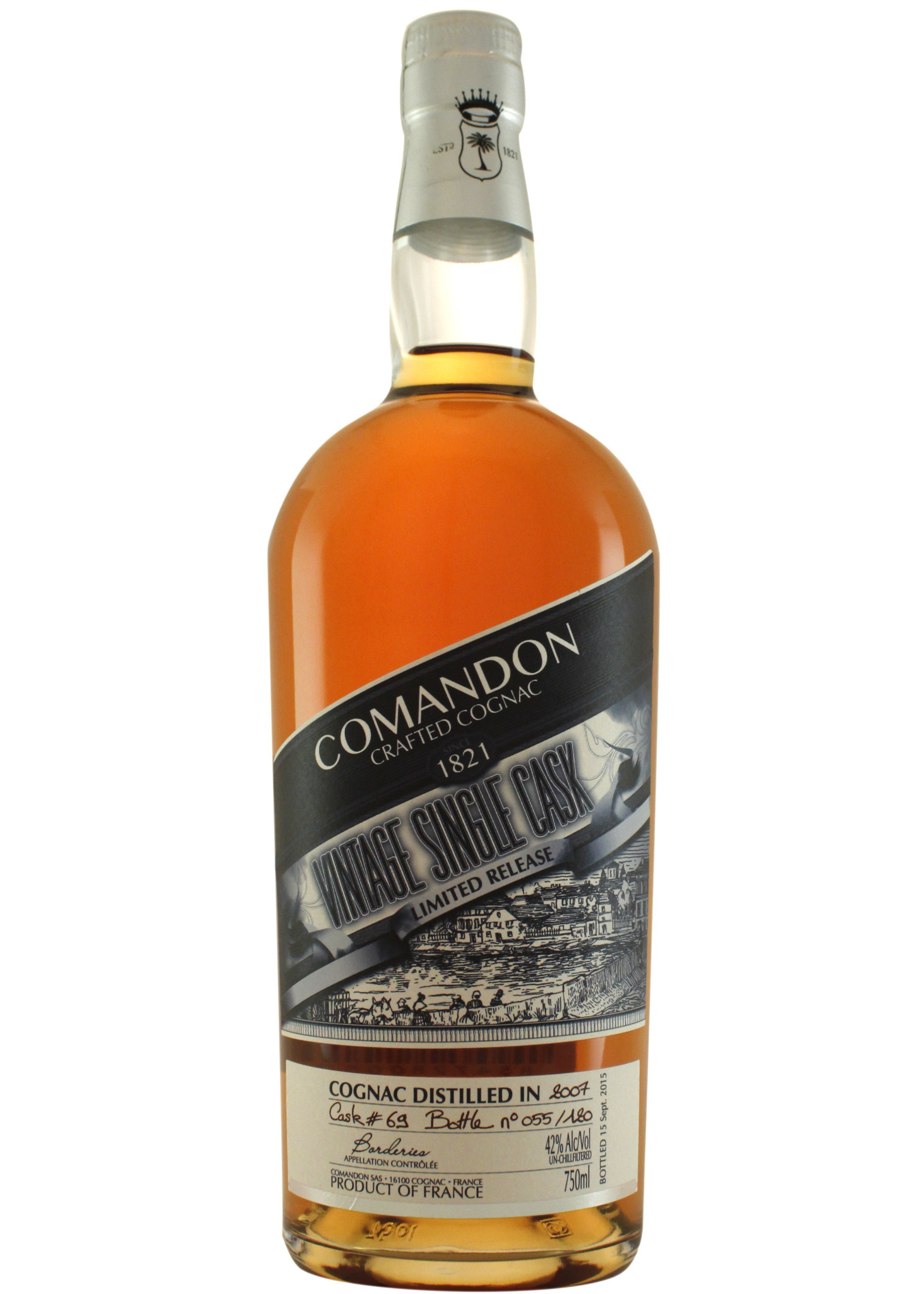 Comandon 2007 Vintage Single Cask Cognac Borderies