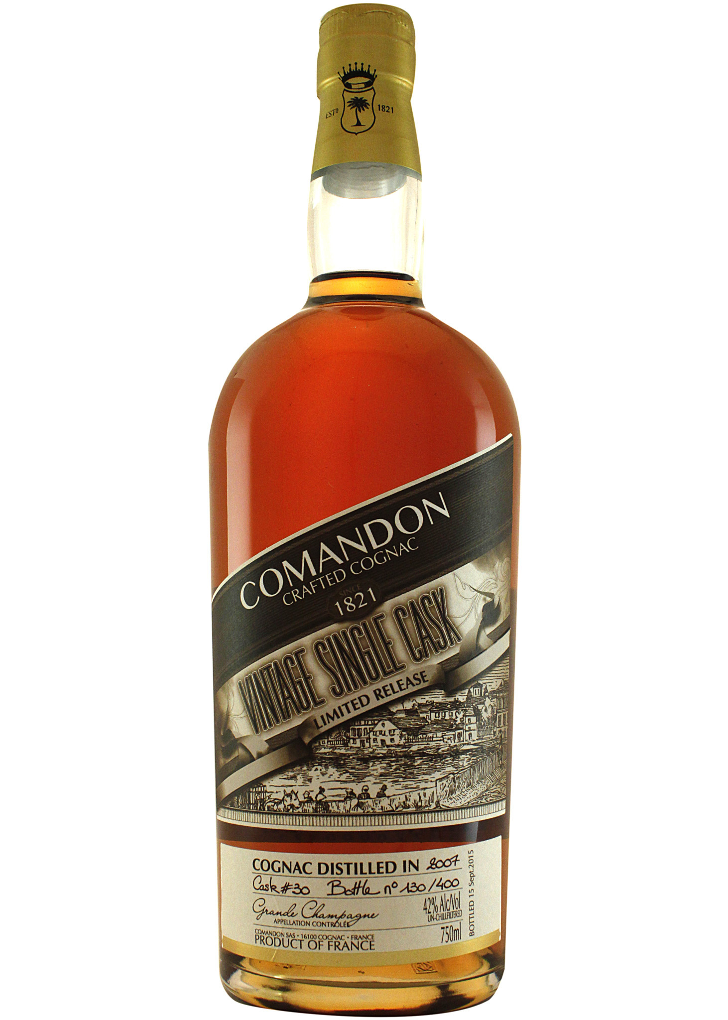 Comandon 2007 Vintage Single Cask Cognac Grand Champagne