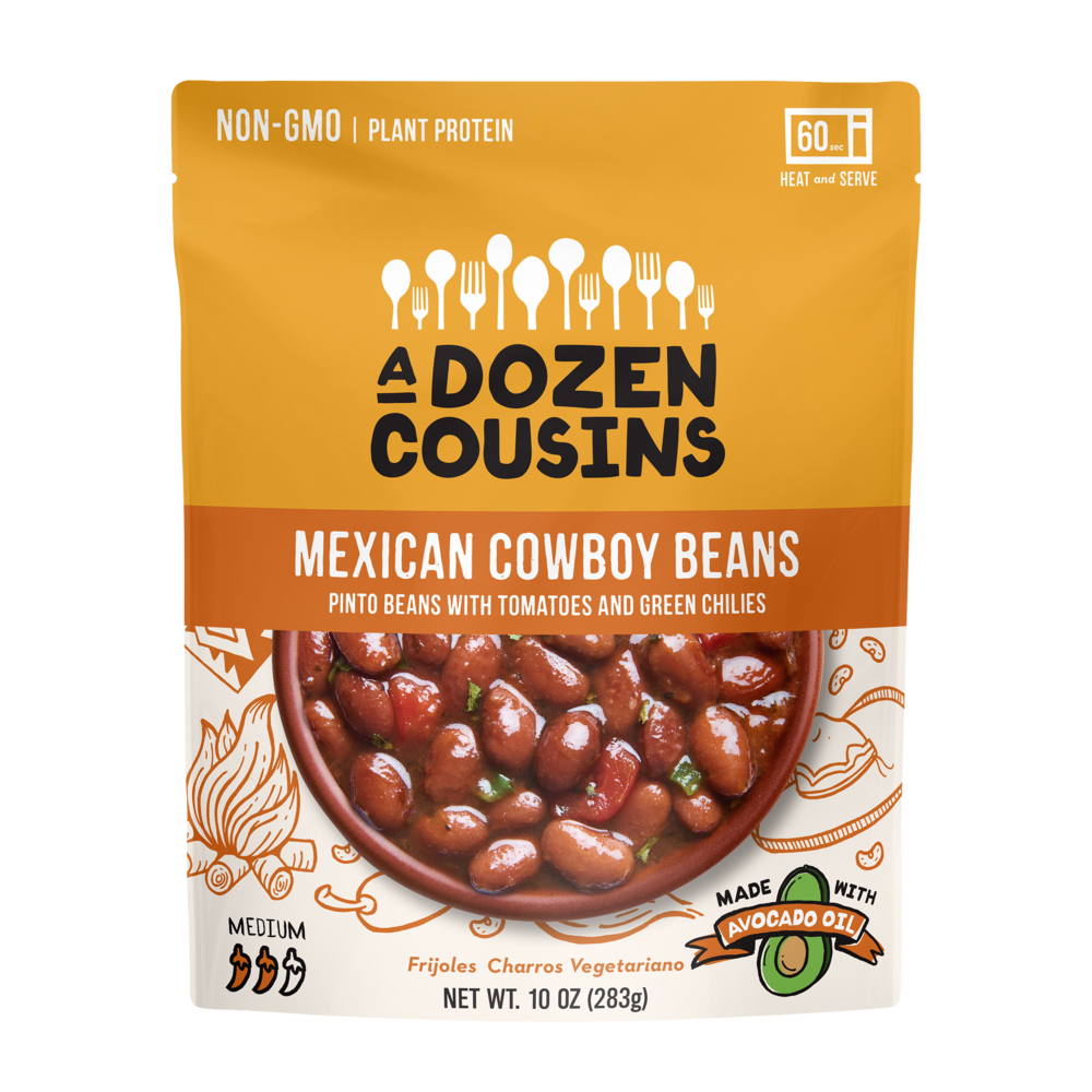 A Dozen Cousins Mexican Cowboy Beans, Pinto Beans with Tomatoes and Green Chiles 10 oz, Berkeley, California
