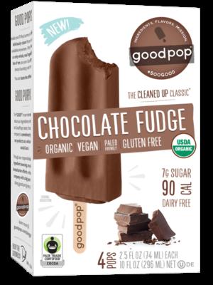 Goodpop Chocolate Fudge Frozen Bars, Austin, Texas 4 pack