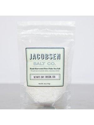 Jacobsen Salt Co. Hand-Harvested Pure Flake Sea Salt, Portland, Oregon 4 oz. bag