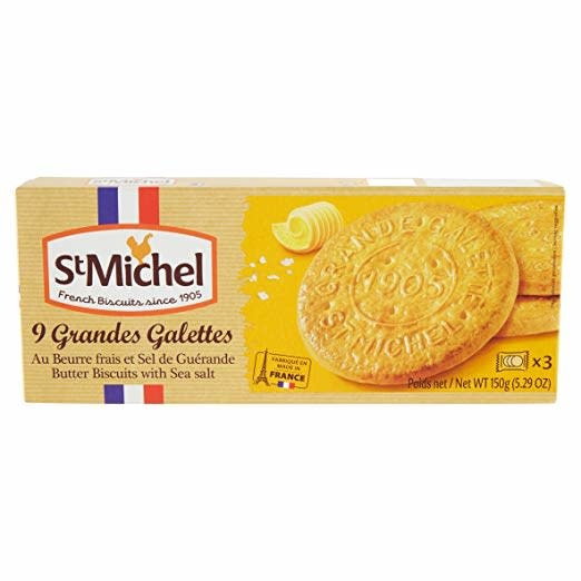 St. Michel Grandes Galettes Butter Cookies with Sea Salt