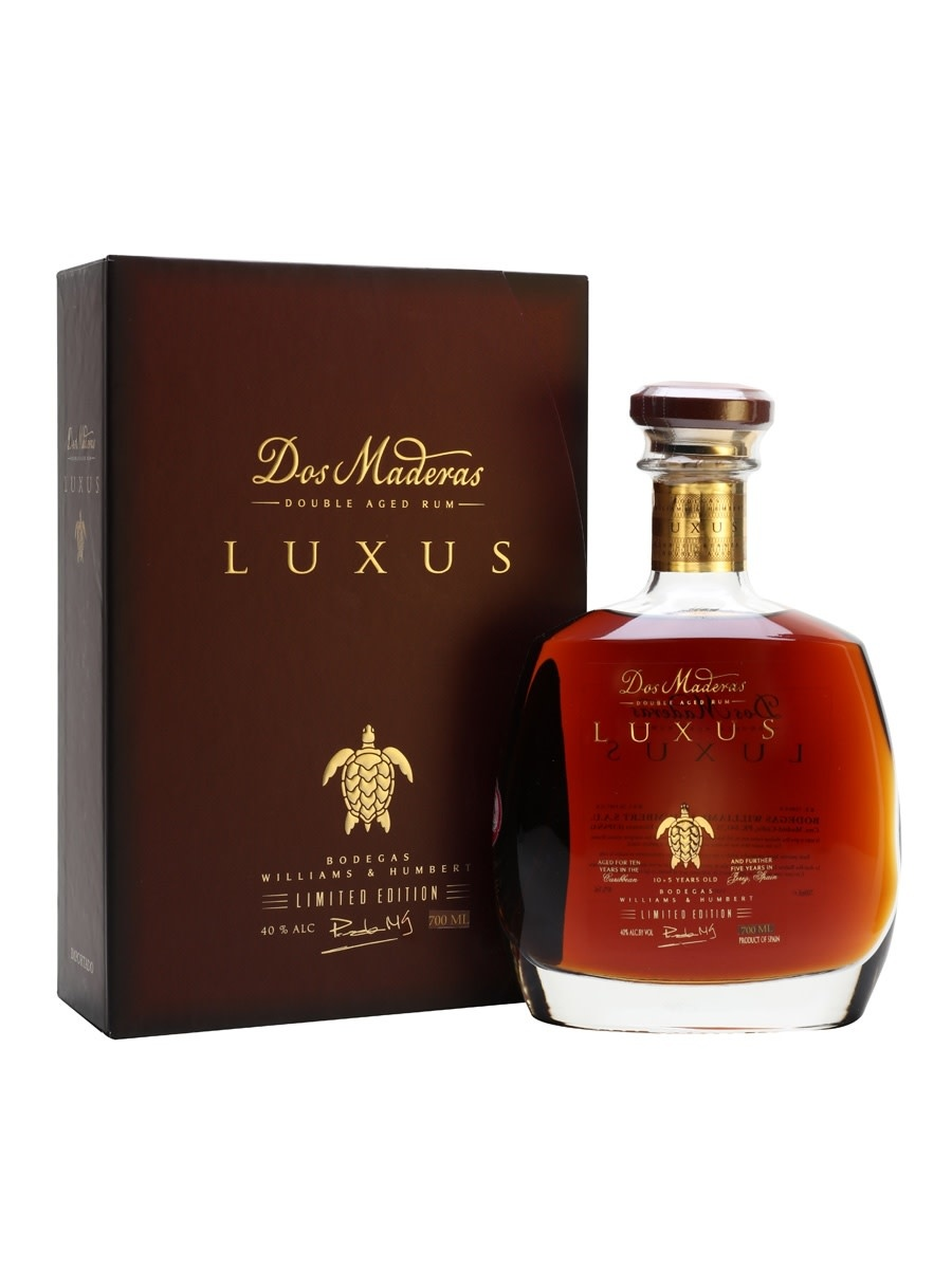 Dos Maderas Luxus Doble Crianza Rum, 15 year Carribean and Jerez Aging