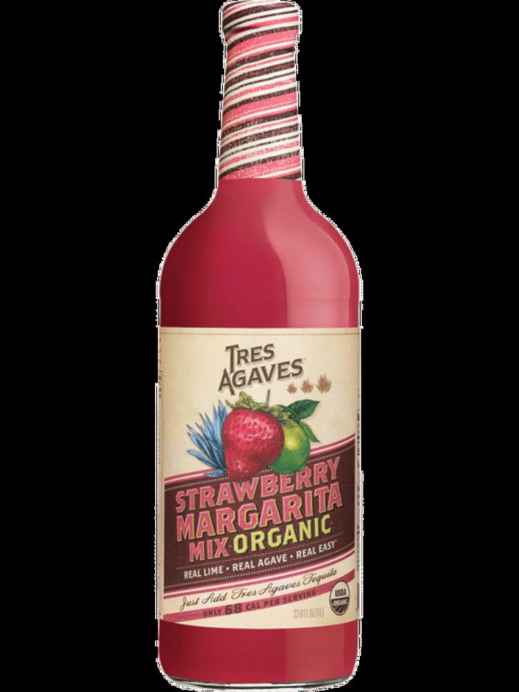 Tres Agaves Strawberry Margarita Mix--1 Liter
