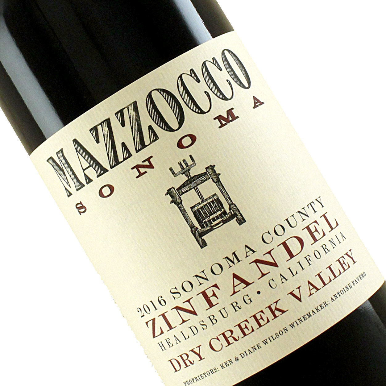 Mazzocco 2016 Zinfandel Dry Creek Valley, Sonoma County