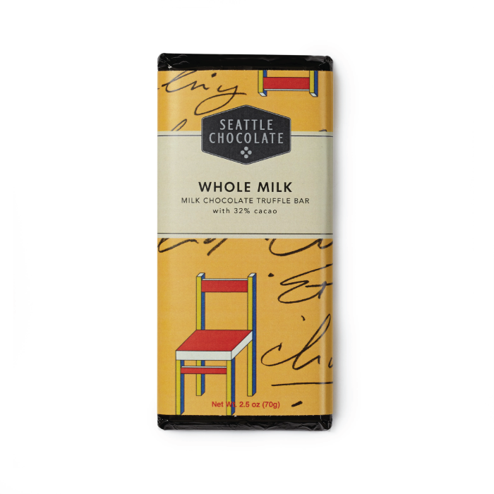 Seattle Chocolate Whole Milk Chocolate Truffle Bar 32%