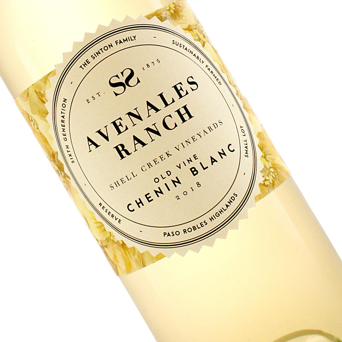 Avenales Ranch 2018 Chenin Blanc , Shell Creek Vineyards, Paso Robles