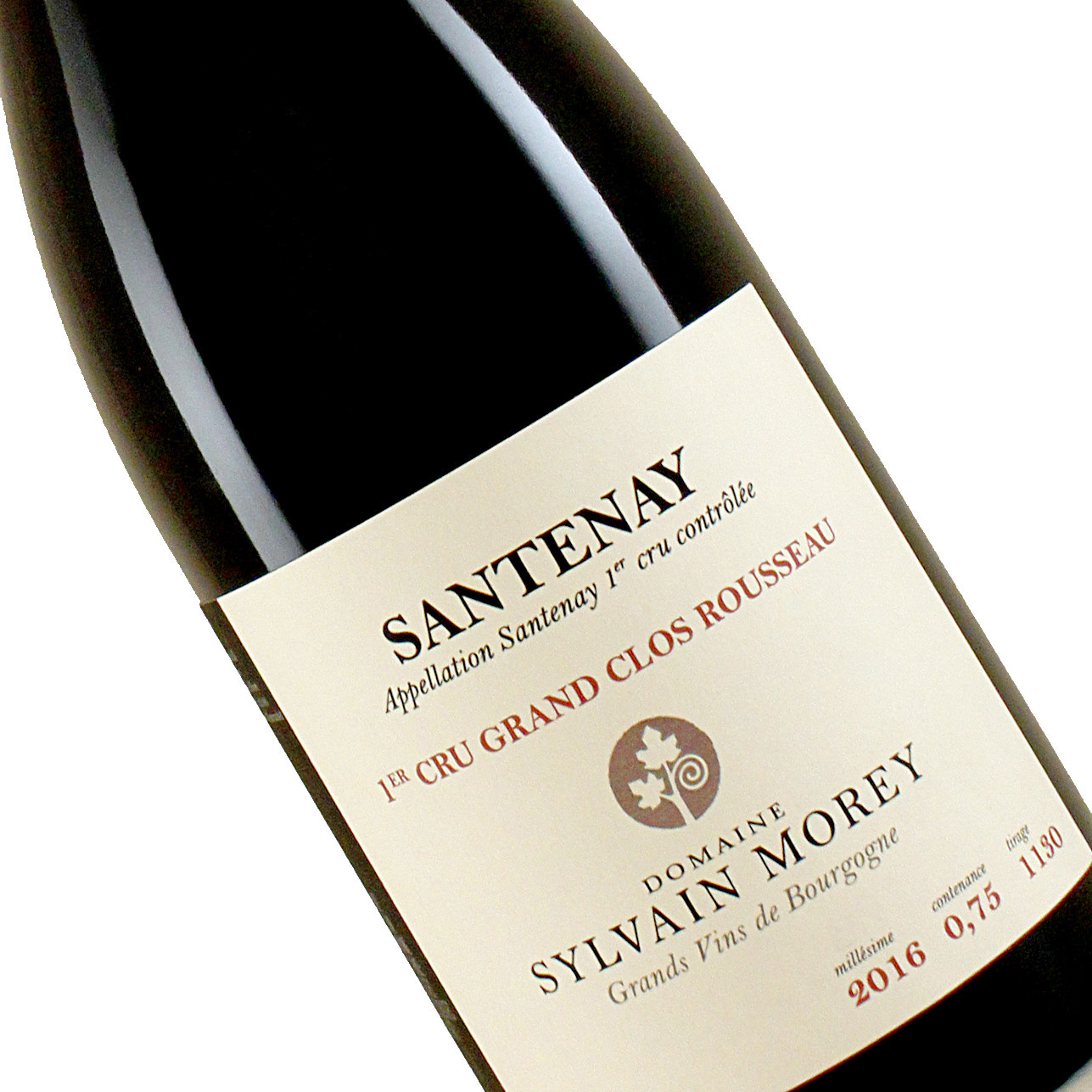 "Domaie Sylvain Morey 2016 Santenay 1er Cru ""Grand Clos Rousseau"" , Burgundy"