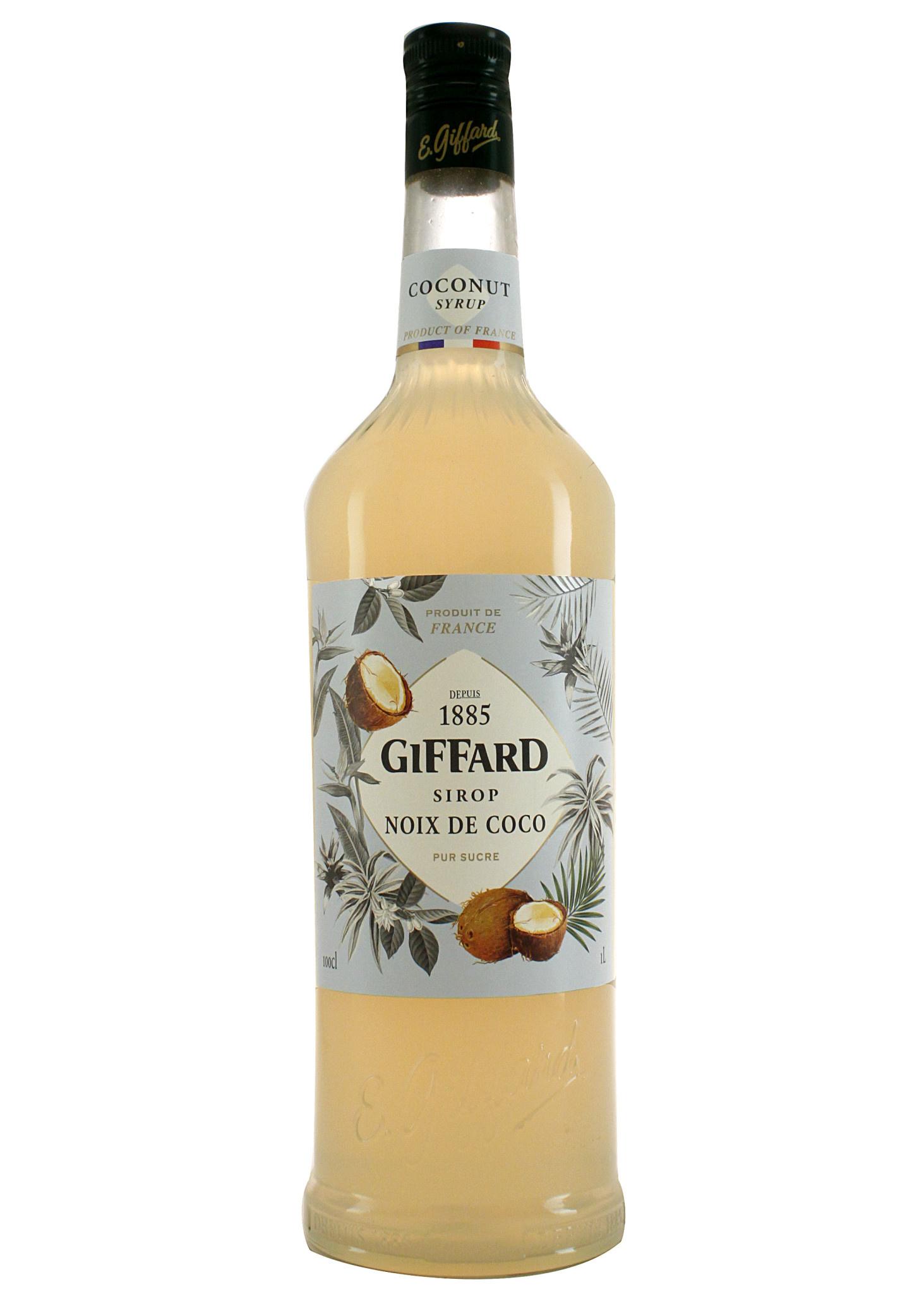 Giffard Noix Coconut Syrup, 1 Liter, France