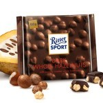 Ritter Sport Whole Hazelnut Dark Chocolate Bar, Germany