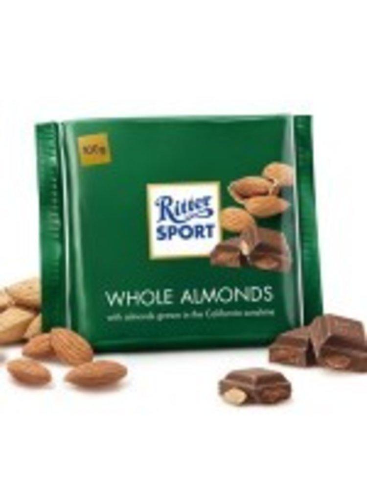 Ritter Sport Whole Almonds Milk Chocolate Bar, Germany