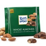 Ritter Sport Whole Almonds Chocolate Bar, Germany