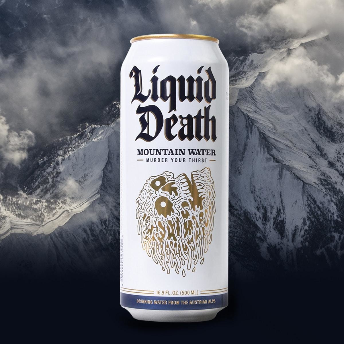 Liquid Death Austrian Mountain Water 16 oz. can