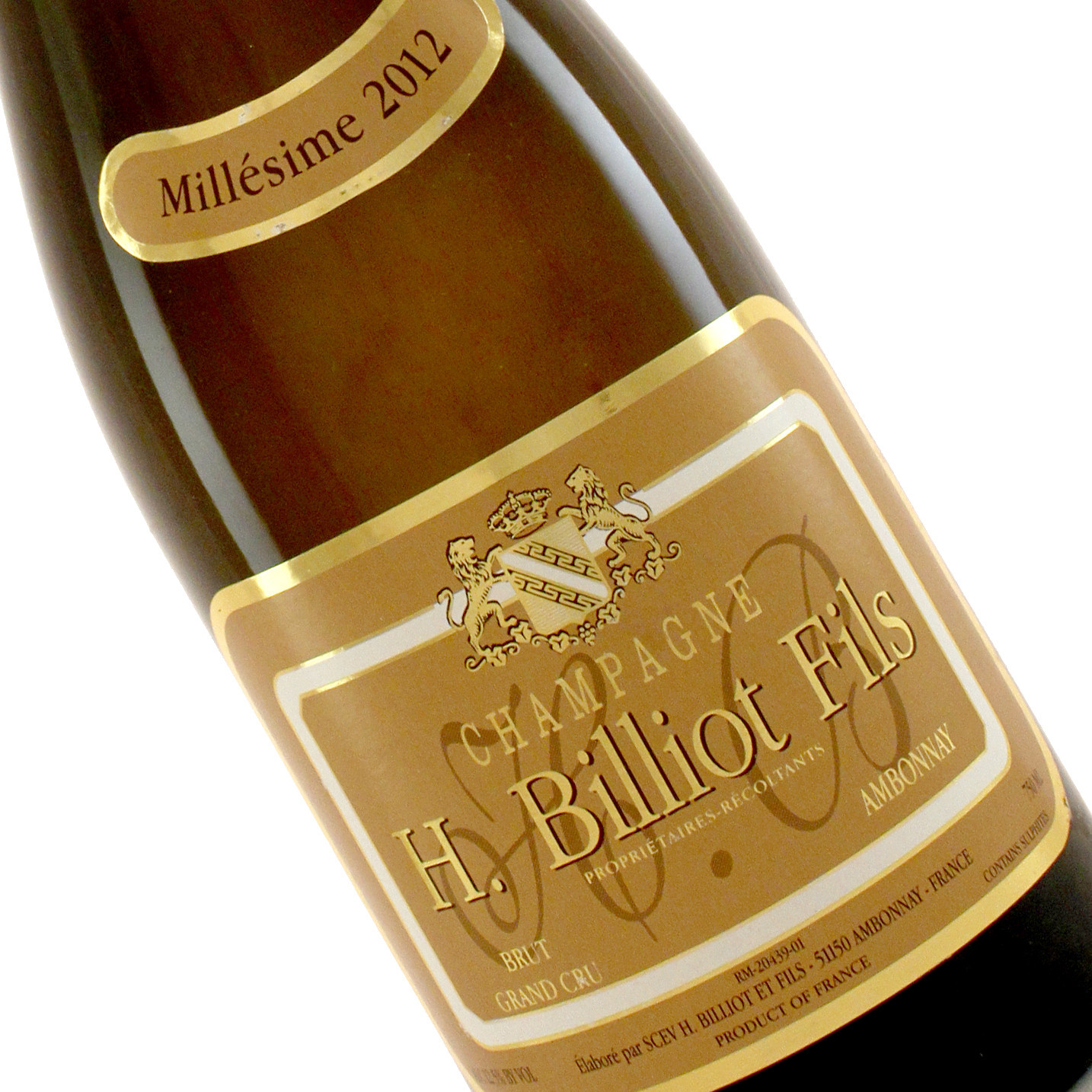 H. Billiot Fils 2012 Brut Grand Cru Champagne