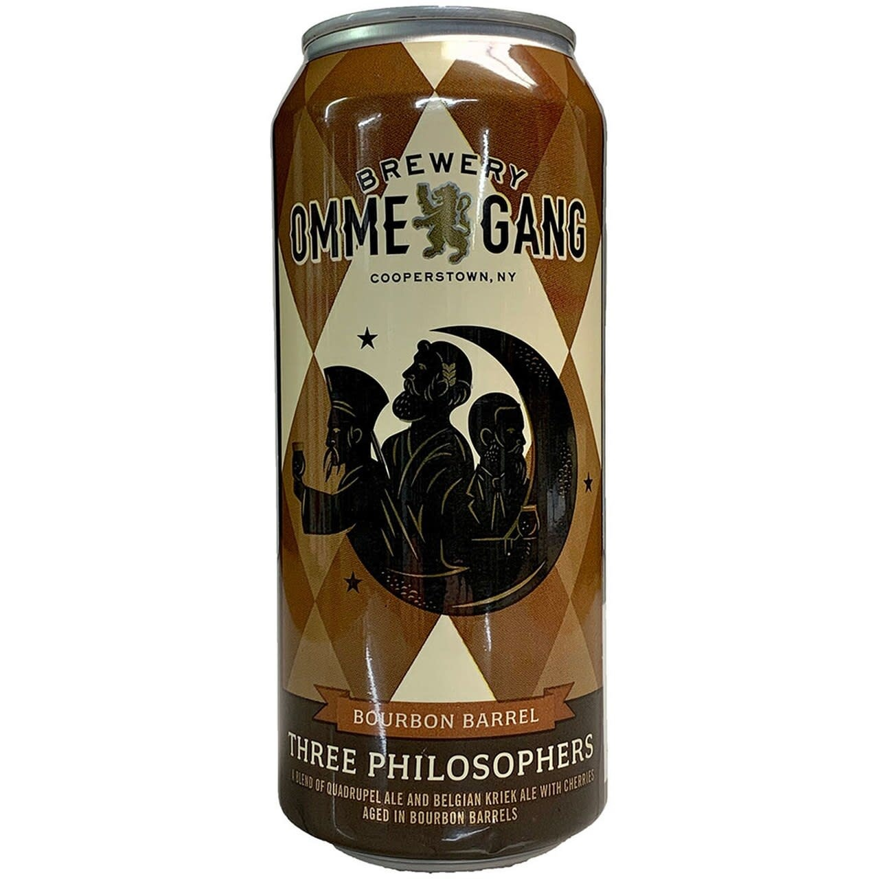 """Ommegang """"Three Philosophers"""" Bourbon Barrel Aged Belgian Quad 16oz Can - Cooperstown NY"""