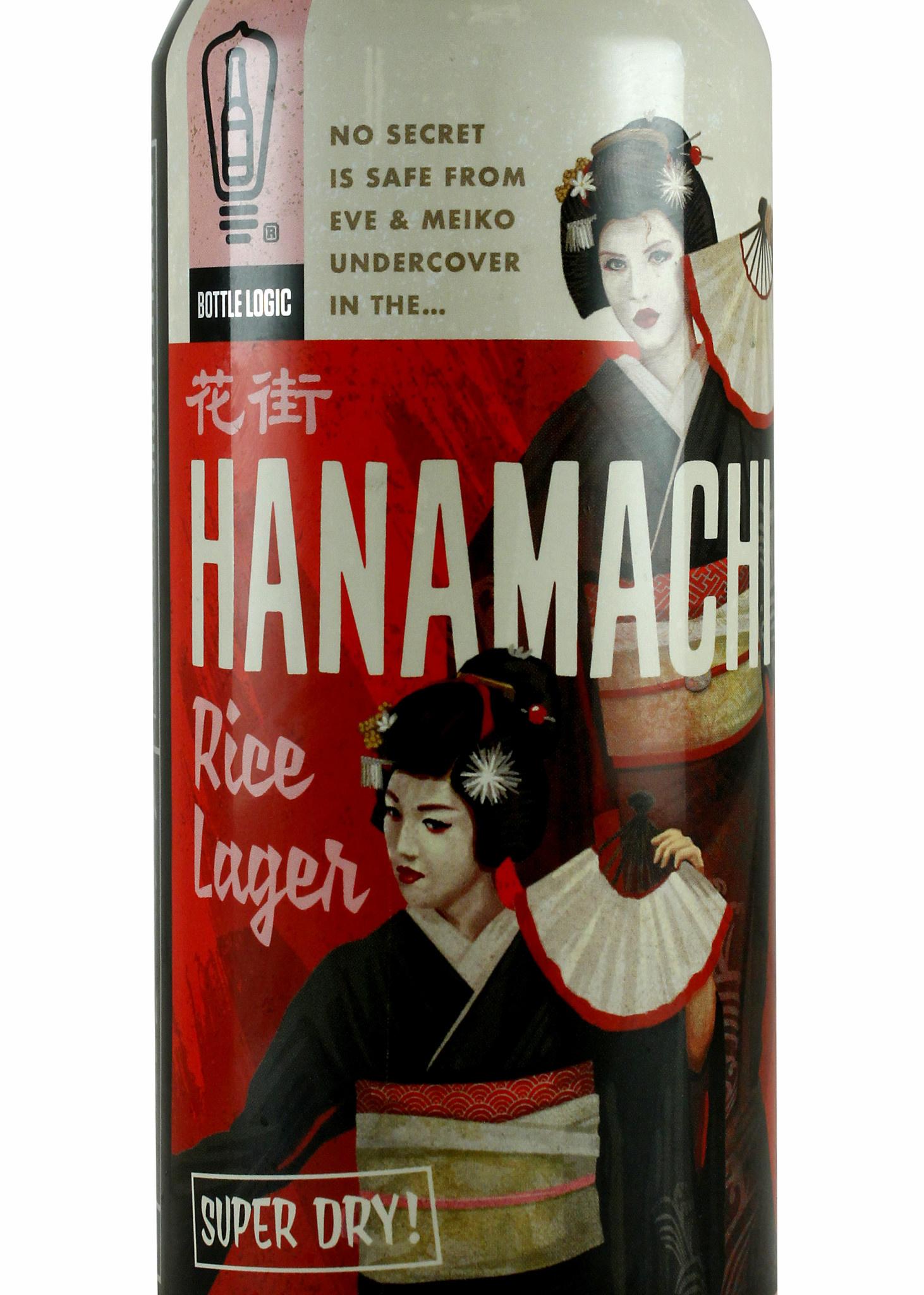 "Bottle Logic ""Hanamachi"" Japanese Rice Lager 16oz Can - Anaheim CA"