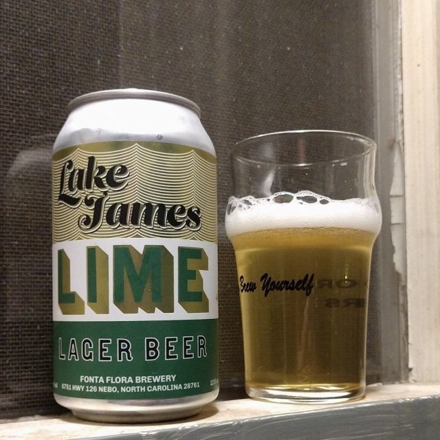 "Fonta Flora ""Lake James LIME"" Lager 12oz Can - Nebo NC"