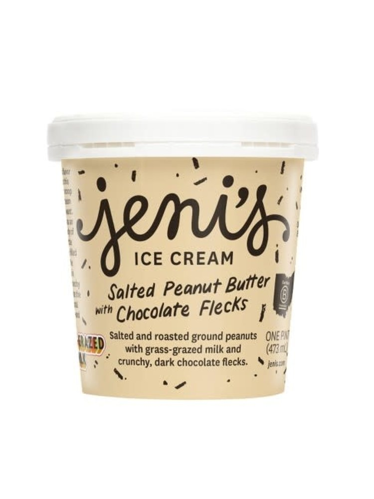 Jeni's Salted Peanut Butter with Chocolate Flecks Ice Cream Pint, Ohio