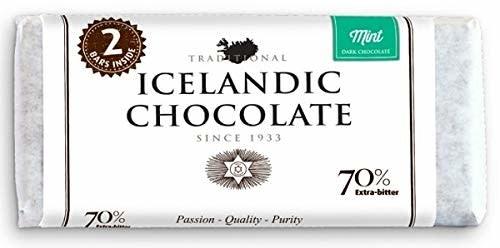 Noi Sirius Icelandic Chocolate MInt 70% Extra Bitter Reykjavik, Iceland 7 oz.