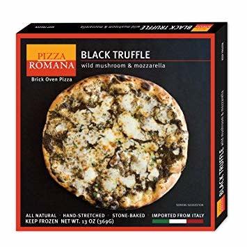 Pizza Romana Black Truffle with Wild Mushroom & Mozzarella, Marche, Italy