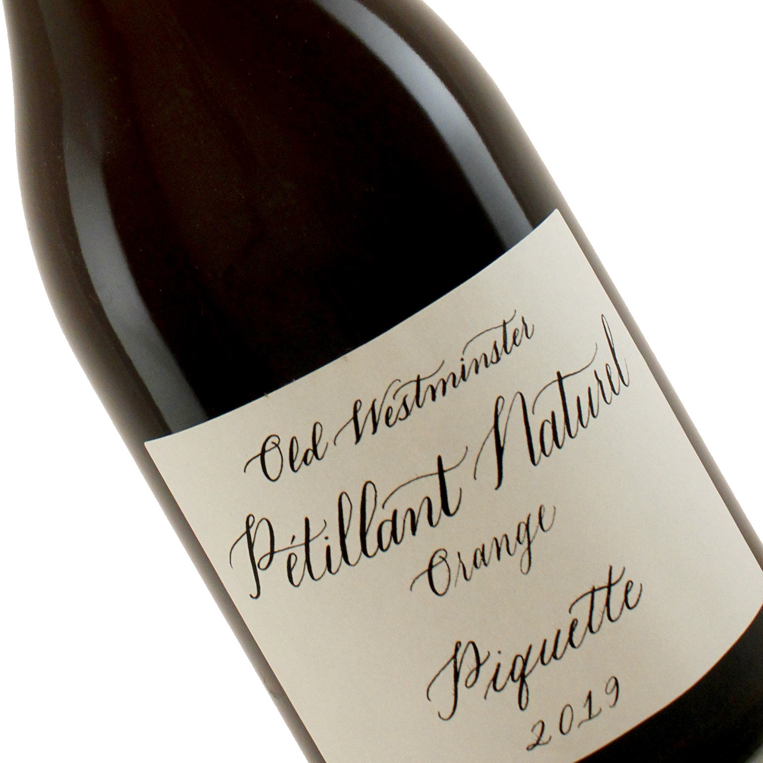 "Old Westminster 2019 Petillant Naturel ""Piquette"" Orange Sparkling Wine, Maryland"