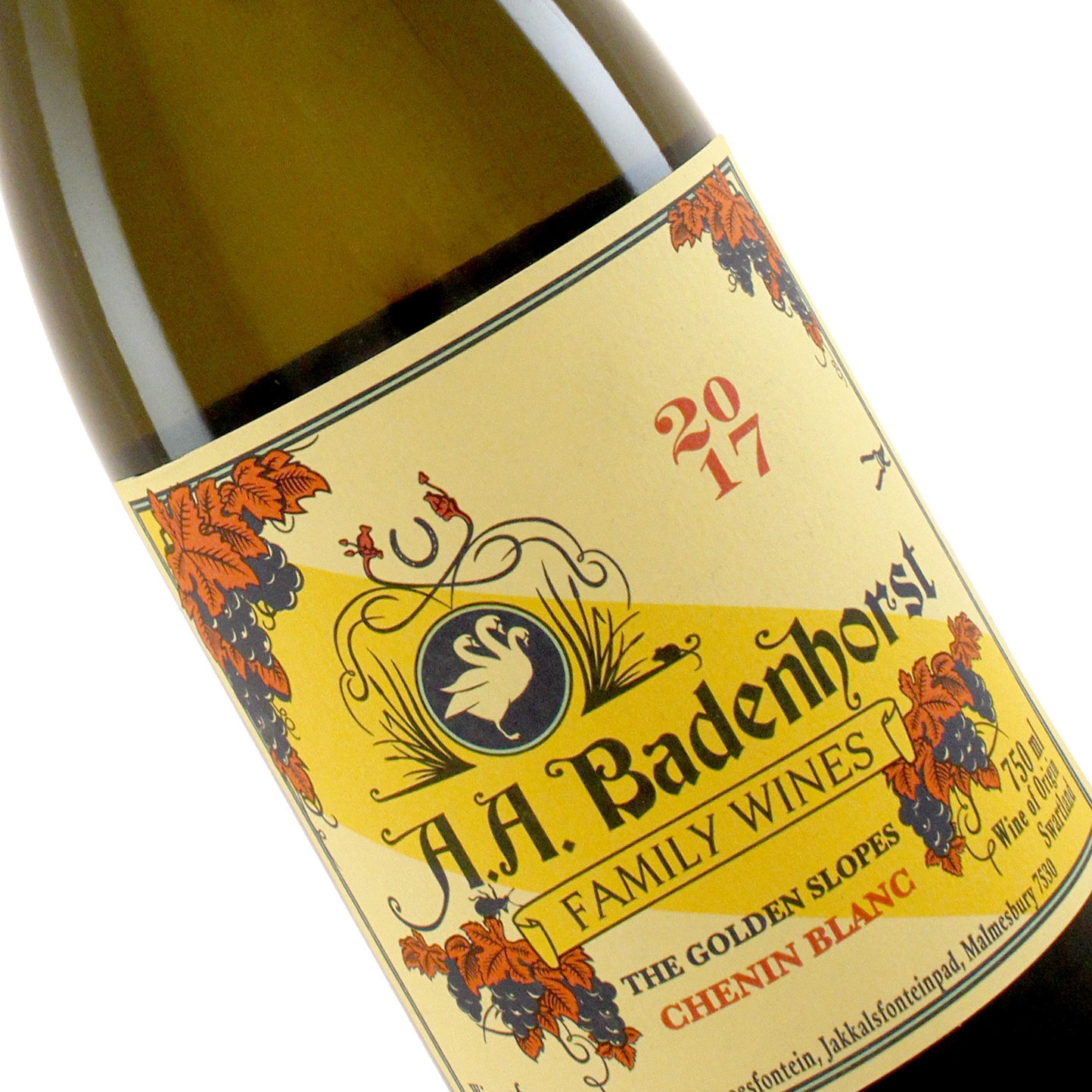 "A. A. Badenhorst 2017 Chenin Blanc ""The Golden Slopes"", South Africa"