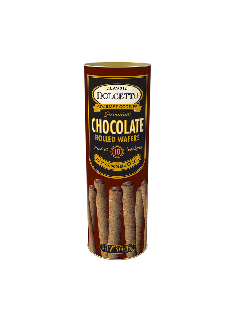 Dolcetto Chocolate Rolled Wafers 3oz.