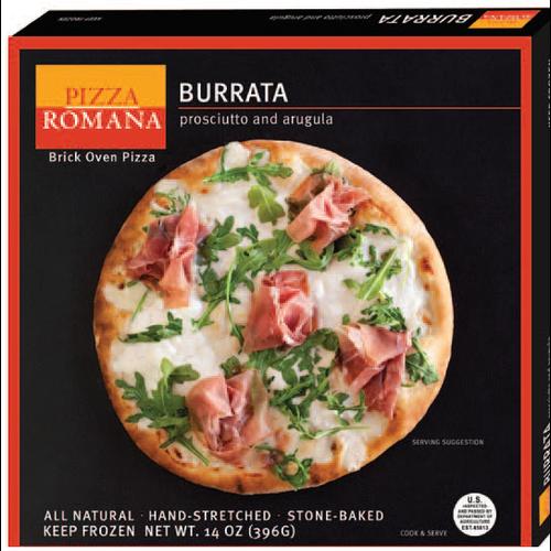 Pizza Romana Burrata with Proscuitto and Arugula Brick Oven Pizza, Marche, Italy